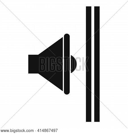 Sound Absorbing Wall Icon. Simple Illustration Of Sound Absorbing Wall Vector Icon For Web Design Is