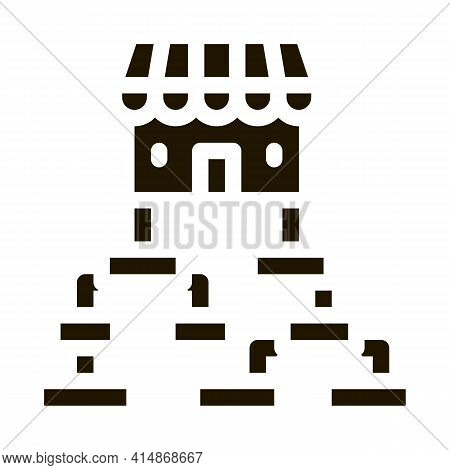 Business Hierarchy Chart Glyph Icon Vector. Business Hierarchy Chart Sign. Isolated Symbol Illustrat