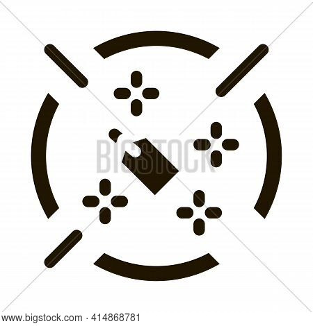 Label Target Aim Glyph Icon Vector. Label Target Aim Sign. Isolated Symbol Illustration