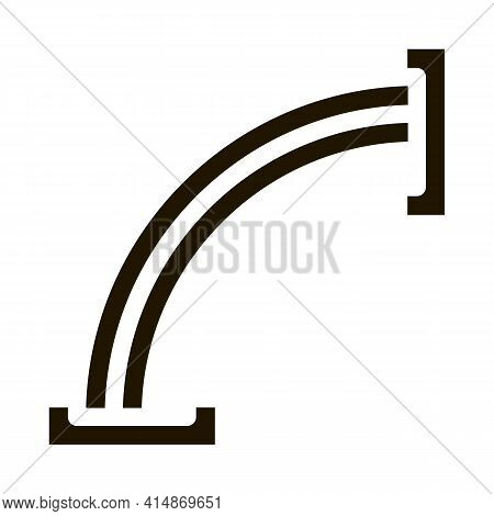 Wood Form Making Machine Glyph Icon Vector. Wood Form Making Machine Sign. Isolated Symbol Illustrat