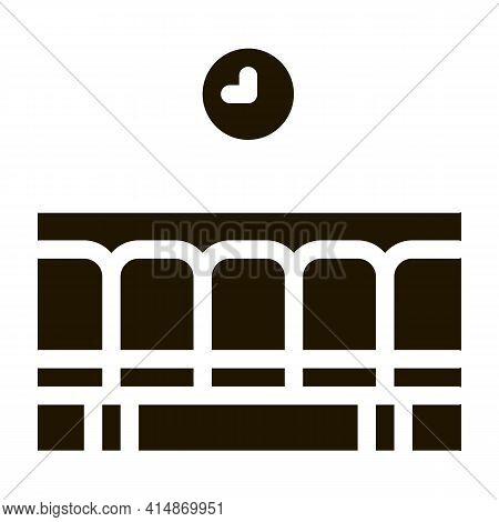 Railway Station Waiting Seats Glyph Icon Vector. Railway Station Waiting Seats Sign. Isolated Symbol