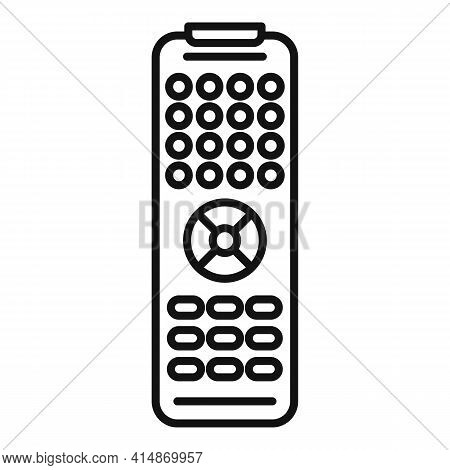 Channel Remote Control Icon. Outline Channel Remote Control Vector Icon For Web Design Isolated On W