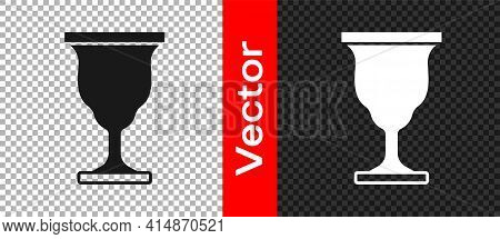 Black Christian Chalice Icon Isolated On Transparent Background. Christianity Icon. Happy Easter. Ve