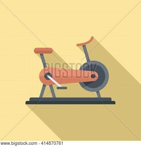 Muscle Exercise Bike Icon. Flat Illustration Of Muscle Exercise Bike Vector Icon For Web Design