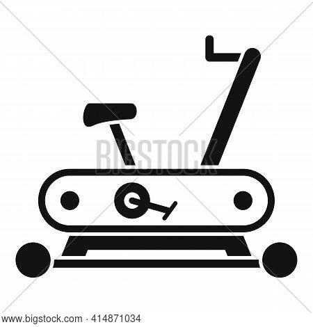 Workout Exercise Bike Icon. Simple Illustration Of Workout Exercise Bike Vector Icon For Web Design