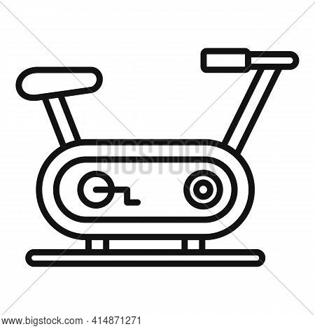 Race Exercise Bike Icon. Outline Race Exercise Bike Vector Icon For Web Design Isolated On White Bac