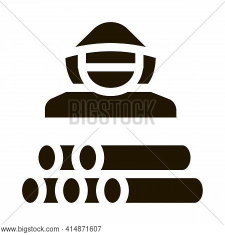 Forest Crime Glyph Icon Vector. Forest Crime Sign. Isolated Symbol Illustration
