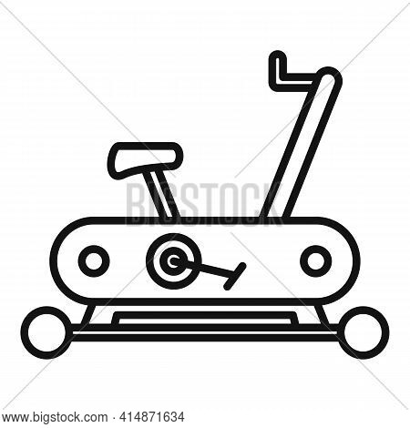 Workout Exercise Bike Icon. Outline Workout Exercise Bike Vector Icon For Web Design Isolated On Whi