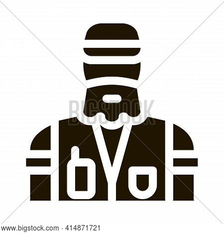 Forester Man Glyph Icon Vector. Forester Man Sign. Isolated Symbol Illustration
