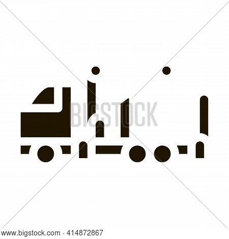 Manipulator Truck Glyph Icon Vector. Manipulator Truck Sign. Isolated Symbol Illustration