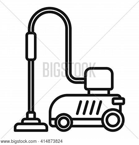 Car Steam Cleaner Icon. Outline Car Steam Cleaner Vector Icon For Web Design Isolated On White Backg