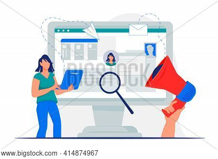 Online Cv Application And Recruitment Concept With Woman Applying Resume For Vacant Job Position. Re