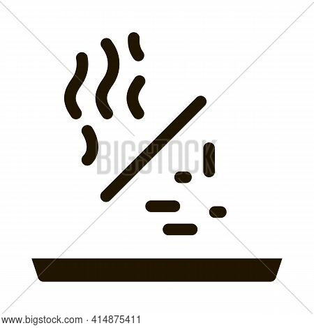 Aromatic Stick Glyph Icon Vector. Aromatic Stick Sign. Isolated Symbol Illustration