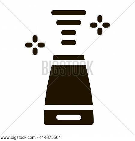 Aromatic Air Device Glyph Icon Vector. Aromatic Air Device Sign. Isolated Symbol Illustration