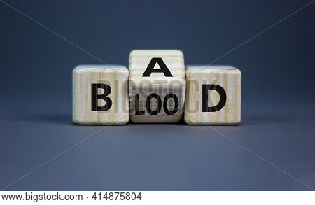 Breed Bad Blood Symbol. Turned Cubes And Changed The Word 'bad' To 'blood'. Beautiful Grey Backgroun