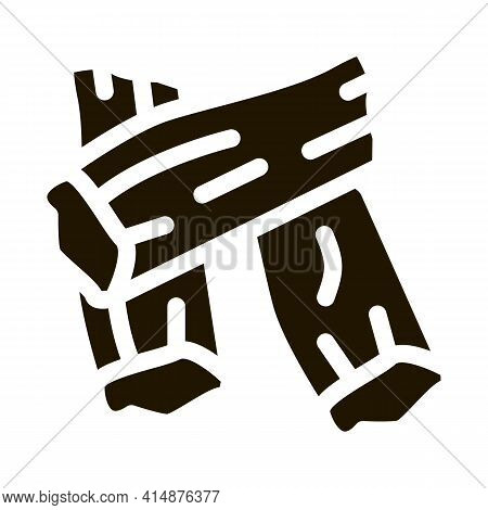 Soy Tofu Skins Glyph Icon Vector. Soy Tofu Skins Sign. Isolated Symbol Illustration