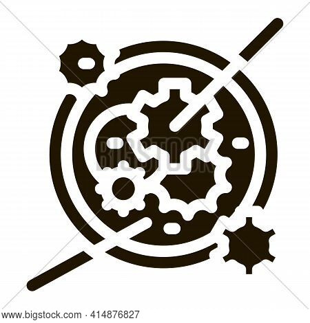 Watch Mechanism Glyph Icon Vector. Watch Mechanism Sign. Isolated Symbol Illustration