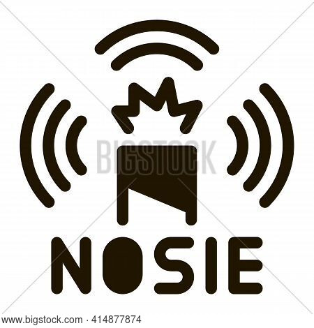 Firework Noise Glyph Icon Vector. Firework Noise Sign. Isolated Symbol Illustration
