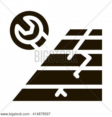 Roof Repair Glyph Icon Vector. Roof Repair Sign. Isolated Symbol Illustration