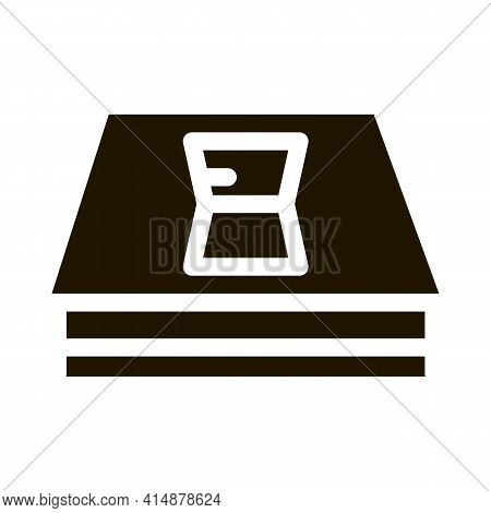 Roof Opened Window Glyph Icon Vector. Roof Opened Window Sign. Isolated Symbol Illustration