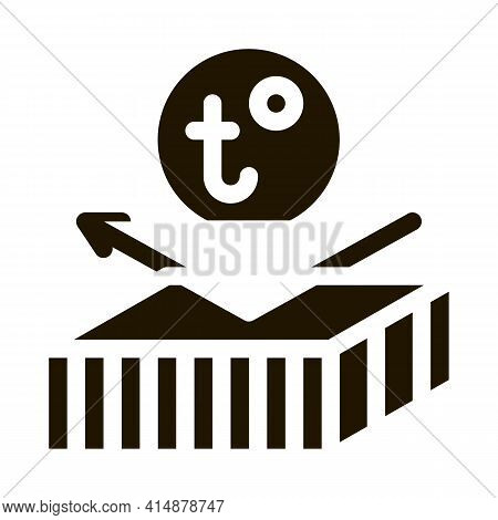 Roof Heat Resistant Layer Glyph Icon Vector. Roof Heat Resistant Layer Sign. Isolated Symbol Illustr