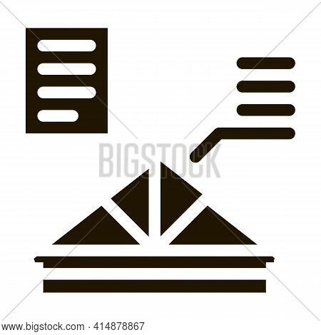 Roof Skeleton Glyph Icon Vector. Roof Skeleton Sign. Isolated Symbol Illustration