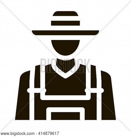 Farmer Profession Glyph Icon Vector. Farmer Profession Sign. Isolated Symbol Illustration