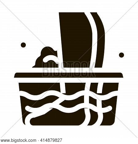 Nail Treatment Liquid Glyph Icon Vector. Nail Treatment Liquid Sign. Isolated Symbol Illustration