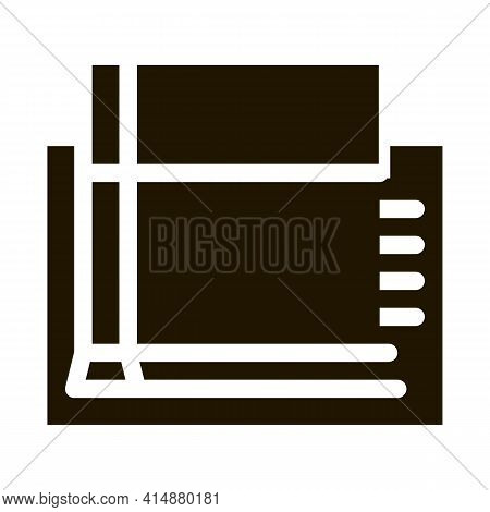 Strip Foundation Glyph Icon Vector. Strip Foundation Sign. Isolated Symbol Illustration