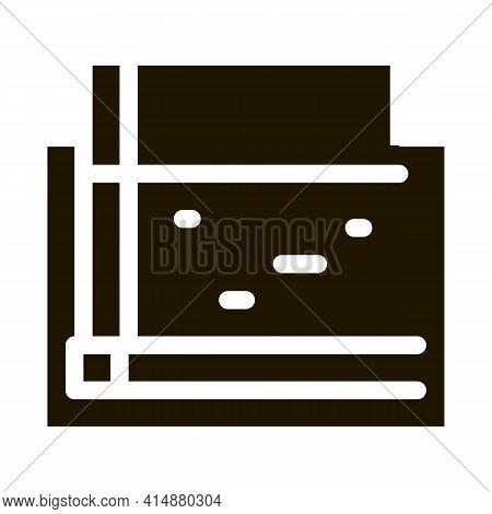 Monolithic Foundation Glyph Icon Vector. Monolithic Foundation Sign. Isolated Symbol Illustration