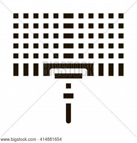 Bbq Grid Glyph Icon Vector. Bbq Grid Sign. Isolated Symbol Illustration