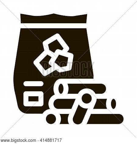 Wooden Sticks For Bbq Glyph Icon Vector. Wooden Sticks For Bbq Sign. Isolated Symbol Illustration
