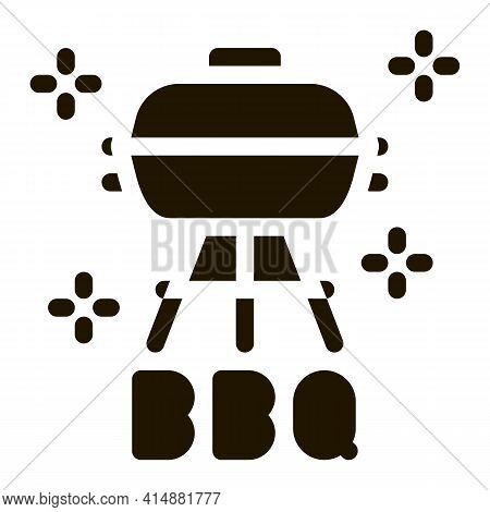 Bbq Equipment Glyph Icon Vector. Bbq Equipment Sign. Isolated Symbol Illustration