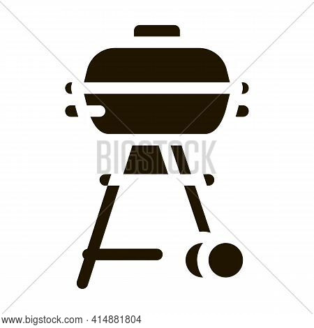 Bbq Cook Tool Glyph Icon Vector. Bbq Cook Tool Sign. Isolated Symbol Illustration