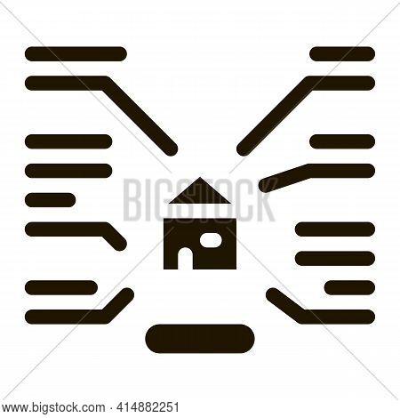 House Characteristics Glyph Icon Vector. House Characteristics Sign. Isolated Symbol Illustration
