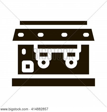 Professional Coffee Machine Glyph Icon Vector. Professional Coffee Machine Sign. Isolated Symbol Ill