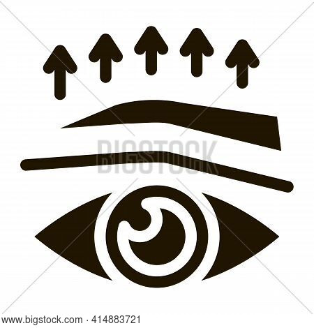 Eyelid Surgery Before And After Glyph Icon Vector. Eyelid Surgery Before And After Sign. Isolated Sy