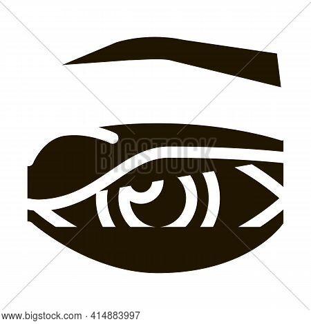 Eyelid Problem Glyph Icon Vector. Eyelid Problem Sign. Isolated Symbol Illustration