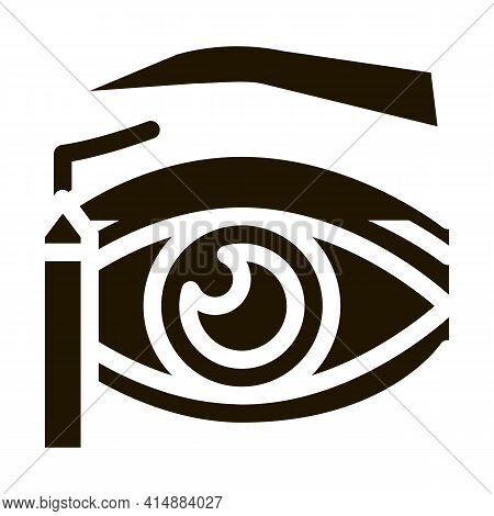 Eyelid Surgery Design Phase Glyph Icon Vector. Eyelid Surgery Design Phase Sign. Isolated Symbol Ill