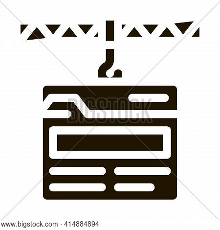 Web Site Construction Glyph Icon Vector. Web Site Construction Sign. Isolated Symbol Illustration