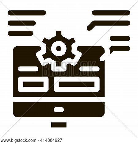 Web Site Technician Characteristics Glyph Icon Vector. Web Site Technician Characteristics Sign. Iso