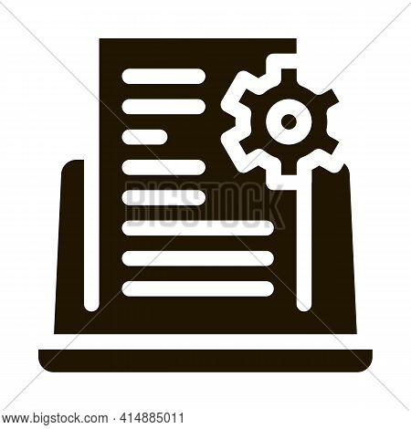 Front End Technical Tasks Glyph Icon Vector. Front End Technical Tasks Sign. Isolated Symbol Illustr