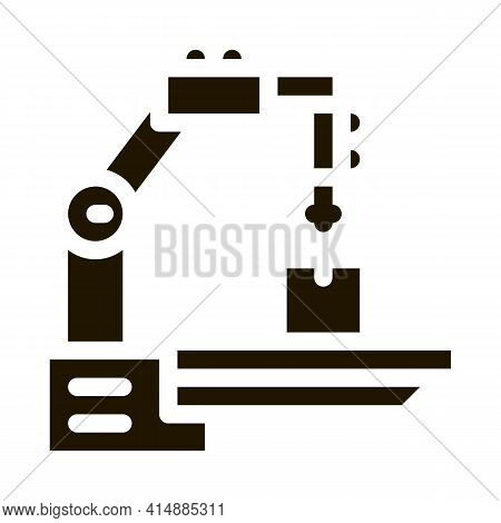 Manufacturing Technology Glyph Icon Vector. Manufacturing Technology Sign. Isolated Symbol Illustrat