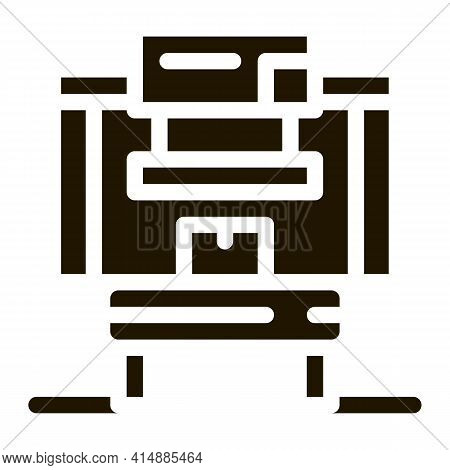 Manufacturing Factory Tool Glyph Icon Vector. Manufacturing Factory Tool Sign. Isolated Symbol Illus