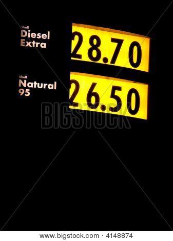 Gas Station Pumps - Sign