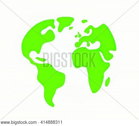 The Earth Silhouette. Cutout Style Vector Illustration