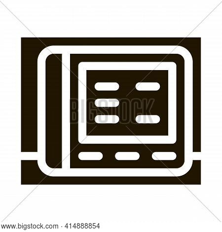 Stethoscope Tool Glyph Icon Vector. Stethoscope Tool Sign. Isolated Symbol Illustration