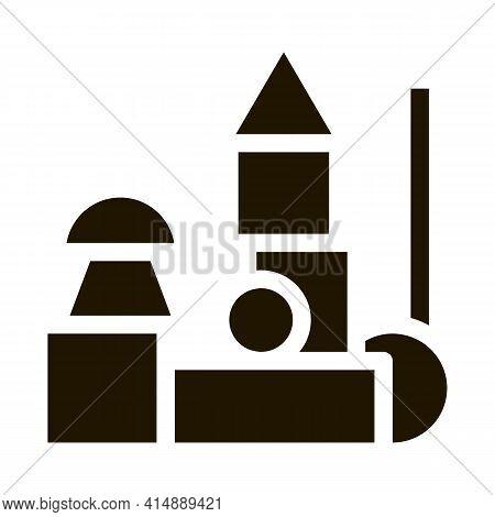 Preschool Education Toys Glyph Icon Vector. Preschool Education Toys Sign. Isolated Symbol Illustrat