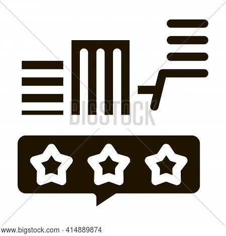 Smart City Eco Lightbulb Glyph Icon Vector. Smart City Eco Lightbulb Sign. Isolated Symbol Illustrat