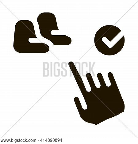 Chair Bag Choice Glyph Icon Vector. Chair Bag Choice Sign. Isolated Symbol Illustration